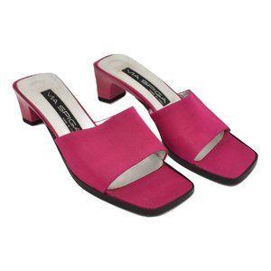 90s Via Spiga Italian Fuchsia Sandal Heels - Sz 5M